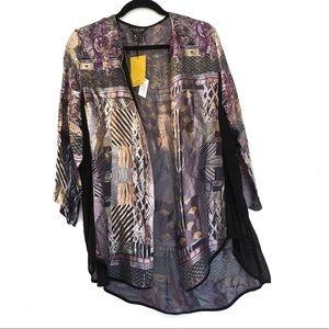 Citron Tops - [CITRON] NWT 30%Silk textured button down blouse